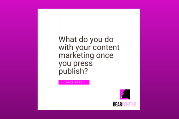 What do you do with your content marketing once you press publish?
